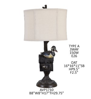 "29.75""H RESIN TABLE LAMP 2PCS UPS PACK 4.34'"