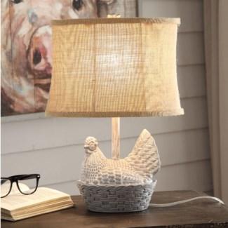 Chicken Basket Table Lamp