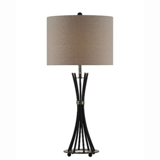 Quinn Banded Rods Table Lamp