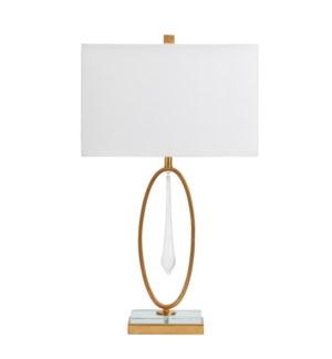 Ashford Bubble Glass Teardrop Table Lamp