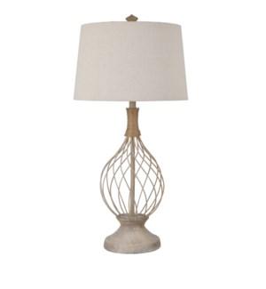 Belle Rive Jute & Wire Teardrop Lamp