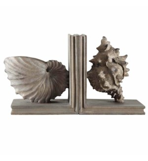 Coastal Shell Bookends