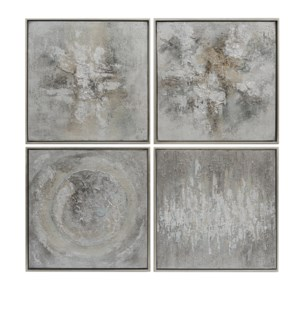 SET OF 4 abstract,solid wood framed oil painting  1SET/3.42'