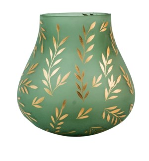 Lila Large Sage Satin Glass Vase