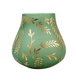 Lila Medium Sage Satin Glass Vase
