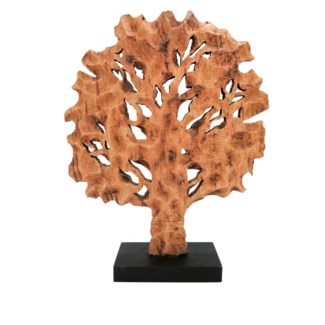 Rustic Wooden Tree Sculpture
