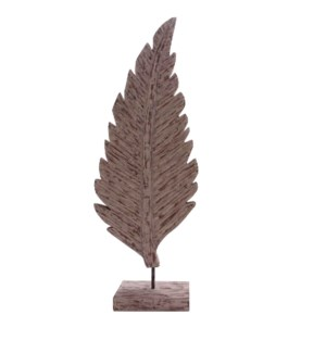 Large Wooden Leaf Statue