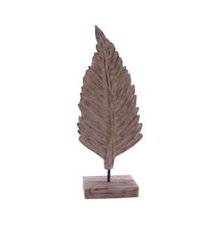 Medium Wooden Leaf Statue