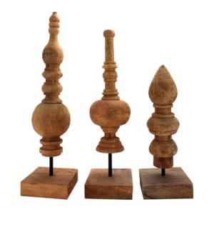 Turned Wood Finials