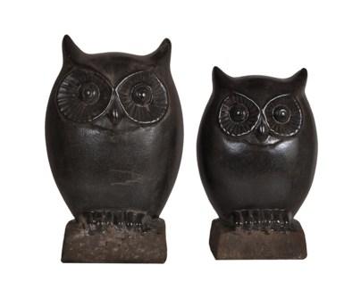 "Night Owl Statues 9""/12.5""Ht."