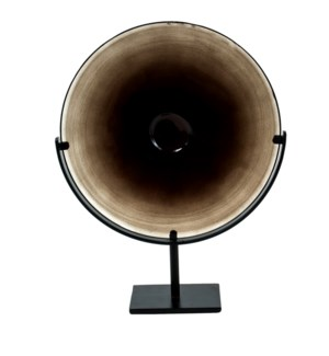 Miramar Short Umber Blown Glass Disc with Stand