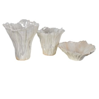 Quinton Organic Shaped Vases & Bowl,Set of 3