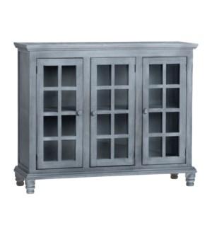 3 Door Grey Cabinet