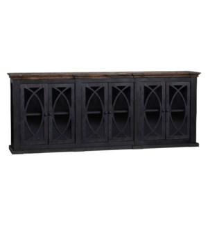 6 Door Double Breakfront Sideboard