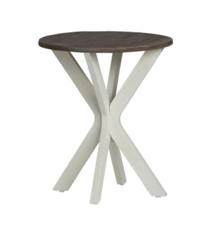 Round Accent Table Mazopan W/ Light Wood Top