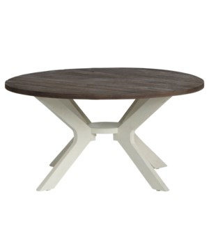 Round Cocktail Table Mazopan W/ Light Wood Top