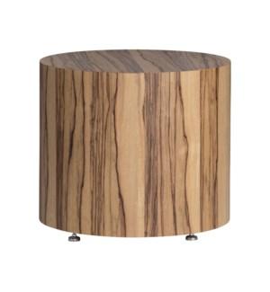 Limba Veneer Round End Table