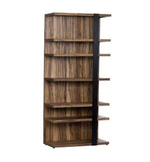 Limba Veneer Tall Wood Etagere