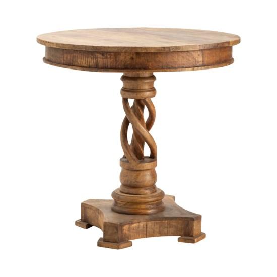 Bengal Manor Mango Wood Twist Accent Table