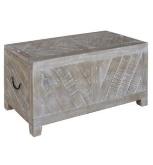Bengal Manor Light Mango Wood Sliding Top Cocktail Table w/ Wine Storage