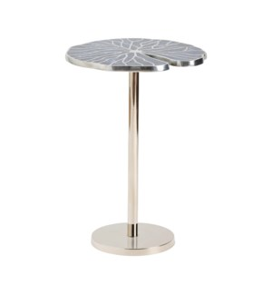 Blue Springs Metal Inlay Blue Accent Table