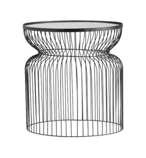 Montreal Round Metal Wire End Table