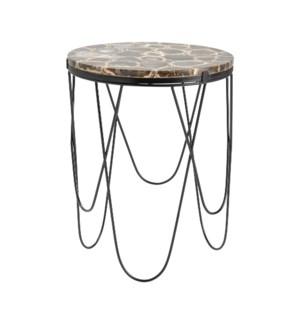 Baxter Black Agate Accent Table