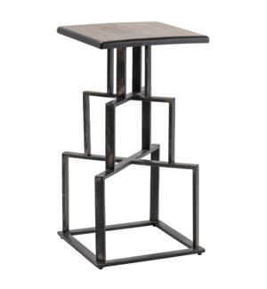 Brandon Mango Wood and Metal Barstool