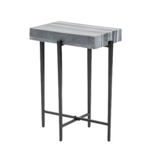 Bailey Marble Block Accent Table