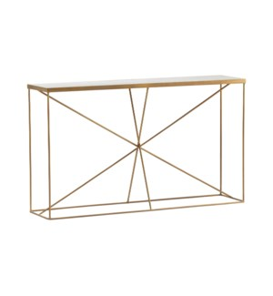Bengal Manor Iron and Marble Console Table