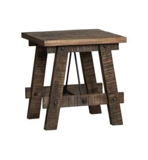 Walden Mango Wood Rectangle End Table