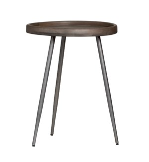 Brooks Tray Top Grey Accent Table