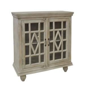 Southbrook Mango Wood White Wash 2 Door Cabinet