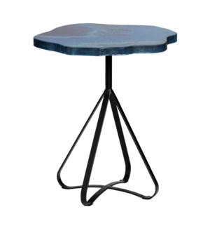 Aqua Waves Accent Table