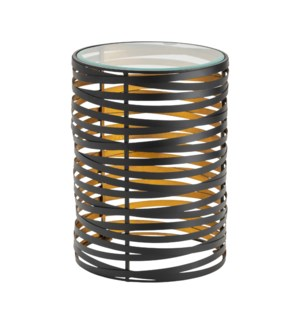 Merigold Metal and Glass Accent Table
