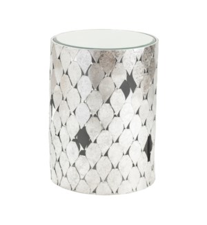 Silver Springs Metal and Mirror End Table