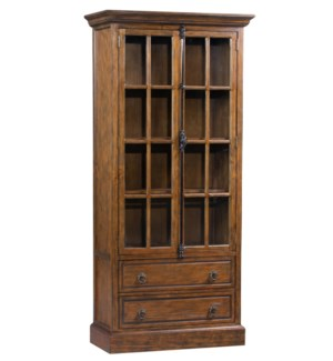 Hawthorne Estate 2 Drawer 2 Glass Door Curio Cabinet
