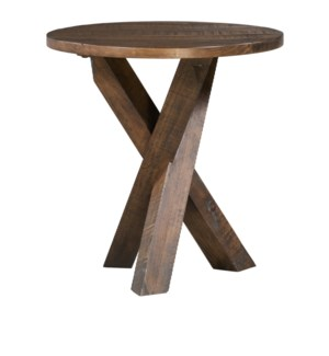 Hawthorne Estate Tri-Leg Round End Table Deep Forest Finish