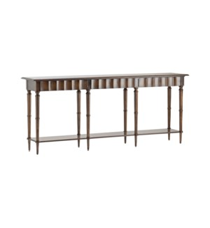 Hawthorne Estate Scalloped Leg Console Table