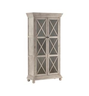 Pembroke Plantation Glass Door Hudson Tall Cabinet