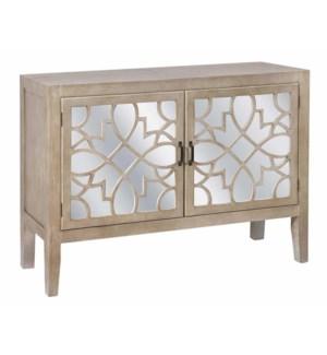 Veranda 2 Door Sandstone and Mirror Cabinet