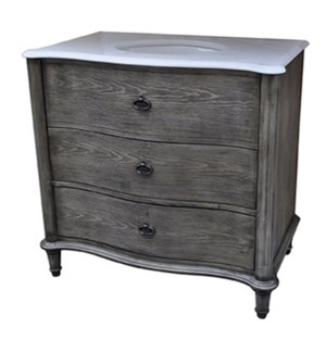 "Grayson Curved 2 Drawer 36"" Vanity Sink"