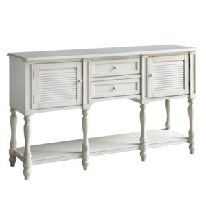 CAPE MAY COTTAGE WHITE SHUTTER CONSOLE TABLE