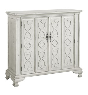 Chadwick 2 Door Antique White Tall Cabinet