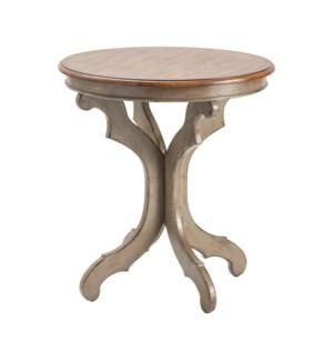 Gresham Textured Grey and Oak Veneer Accent Table