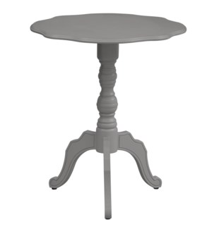 Hannah Scalloped Grey Accent Table