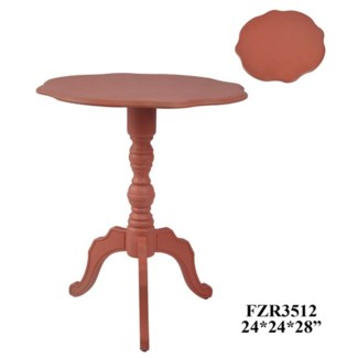 Scalloped Edge Accent Table