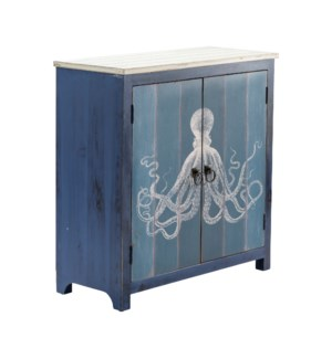 Ocotopus 2 Door Deep Blue Cabinet