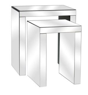 Fletcher Beveled Mirror Nested Tables