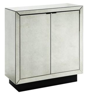 Kacey 2 Door Antiue Mirror Cabinet
